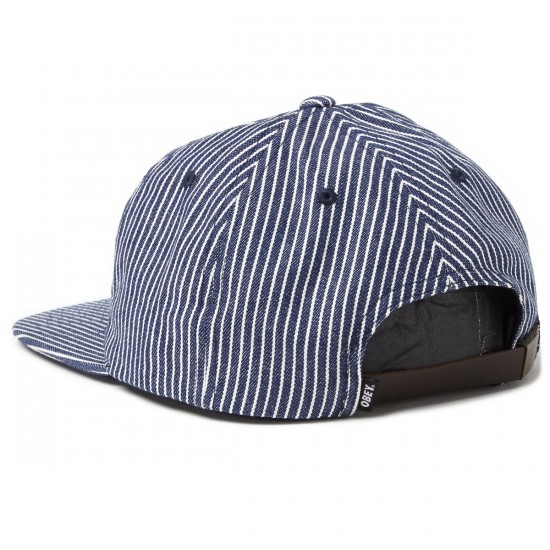 Obey Kings of the City Hat - Navy Hickory