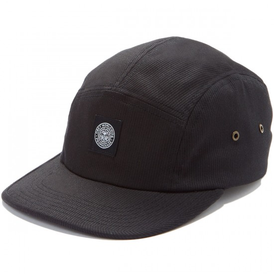 Obey Peter 5 Panel Hat - Black