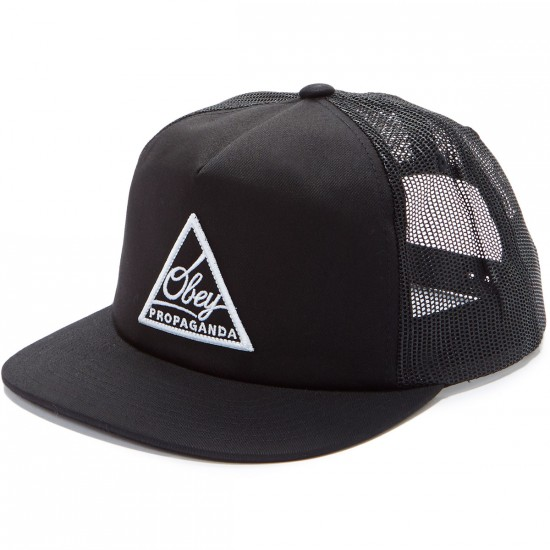 Obey New Federation Trucker Hat - Black