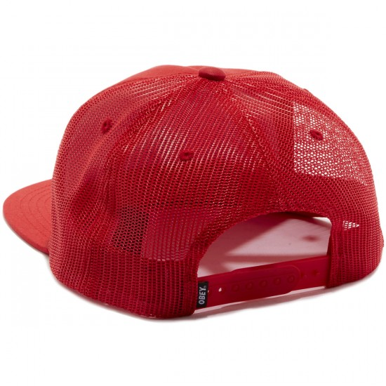 Obey New Federation Trucker Hat - Red