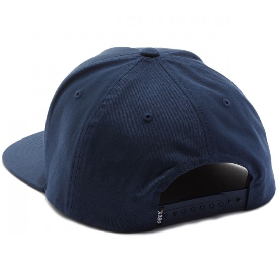 Obey Classic Patch Snapback Hat - Navy