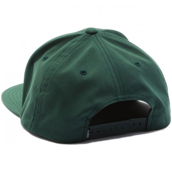 Obey Worldwide Seal Snapback Hat - Forest
