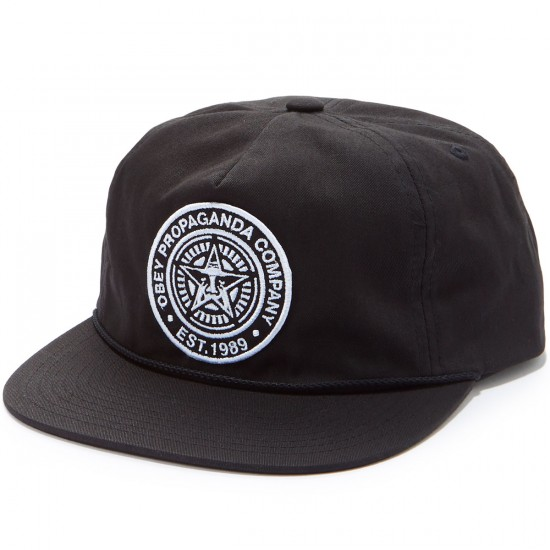 Obey Commissioner Snapback Hat - Black