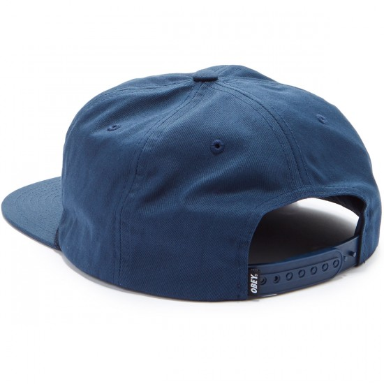 Obey Commissioner Snapback Hat - Navy