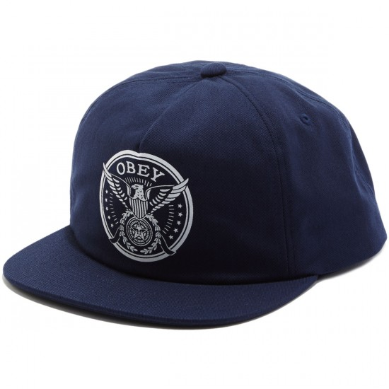 Obey Peace and Justice Snapback Hat - Navy