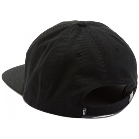Obey Worldwide Seal 6 Panel Hat - Black