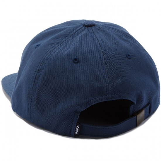 Obey Worldwide Seal 6 Panel Hat - Navy