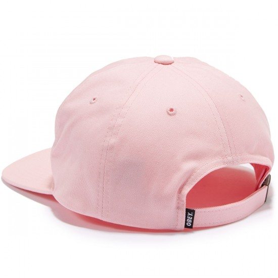 Obey Creeper 6 Panel Hat - Pink
