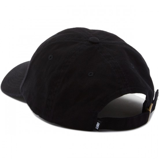 Obey Jumble Bar 6 Panel Hat - Black