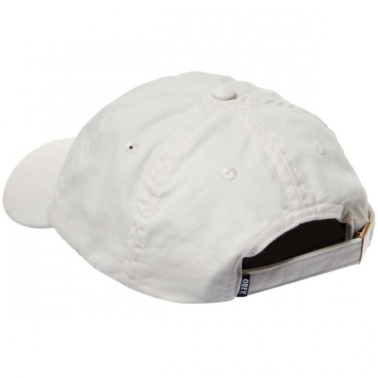 Obey Jumble Bar 6 Panel Hat - Cream