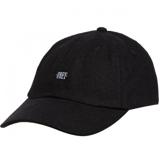 Obey Times 6 Panel Hat - Black