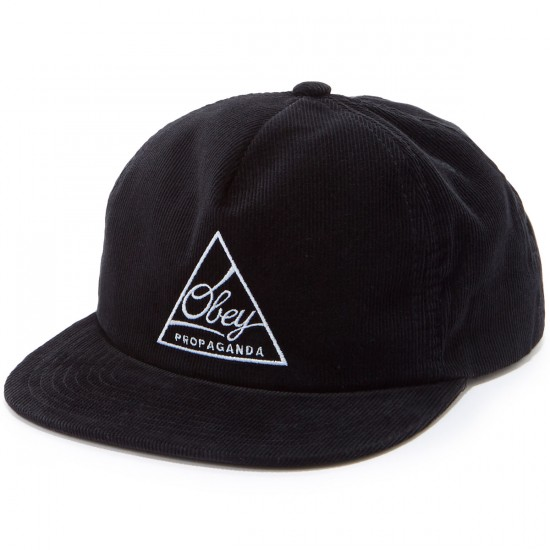 Obey New Federation Snapback Hat - Black