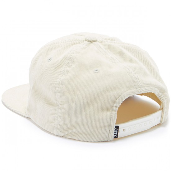 Obey New Federation Snapback Hat - Light Cream