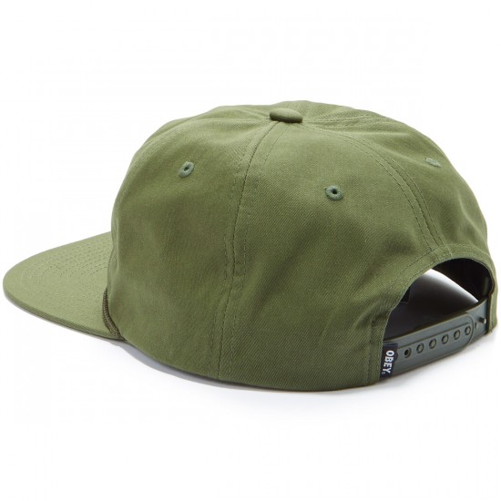 Obey Commissioner Snapback Hat - Army