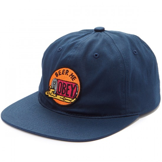 Obey Beer Me 6 Panel Hat Hat - Navy