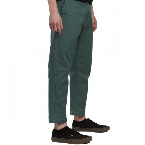 Obey Straggler Flooded Pants - Work Green