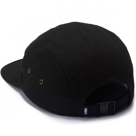 Obey Tomas 5 Panel Hat - Black