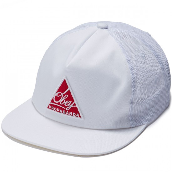 Obey New Federation II Trucker Hat - White