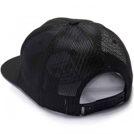 Obey Obey Oval Patch Trucker Hat - Black