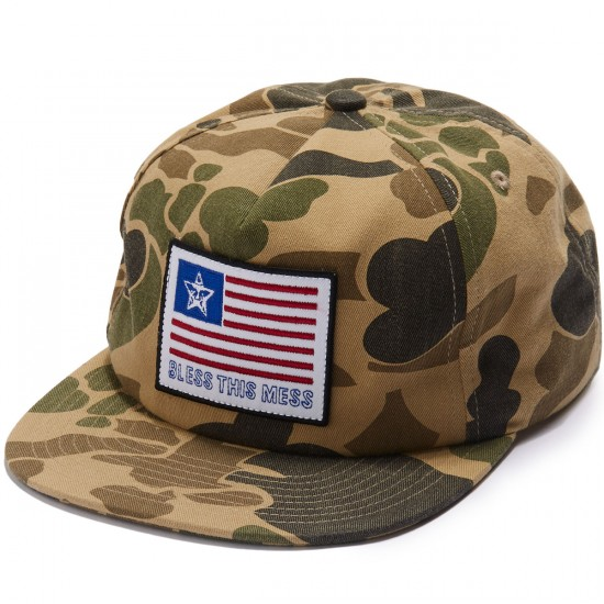 Obey Bless Snapback Hat - Camo
