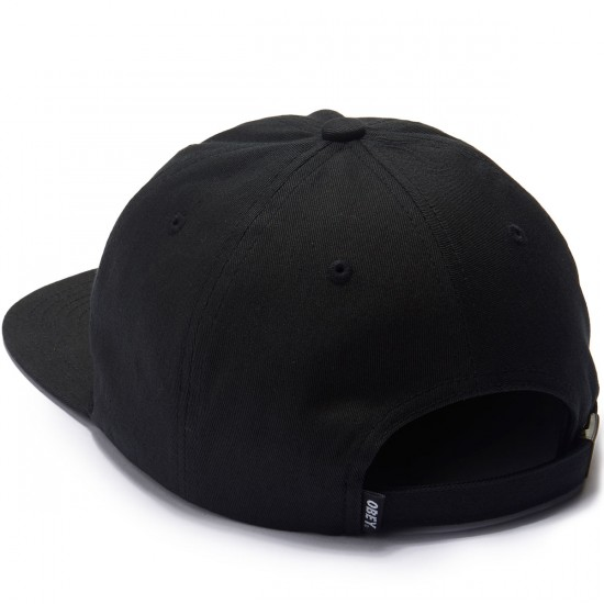 Obey Creeper Face 6 Panel Hat - Black