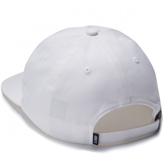 Obey Obey Flower 6 Panel Hat - White