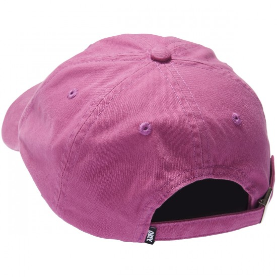 Obey Lemont 6 Panel Hat - Raspberry