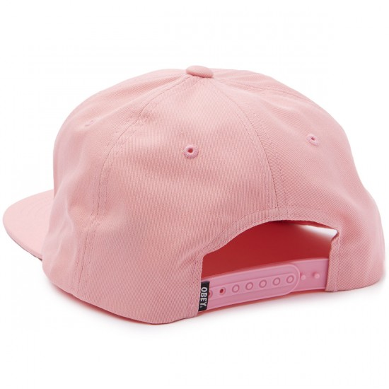Obey Ripped Snapback Hat - Pink