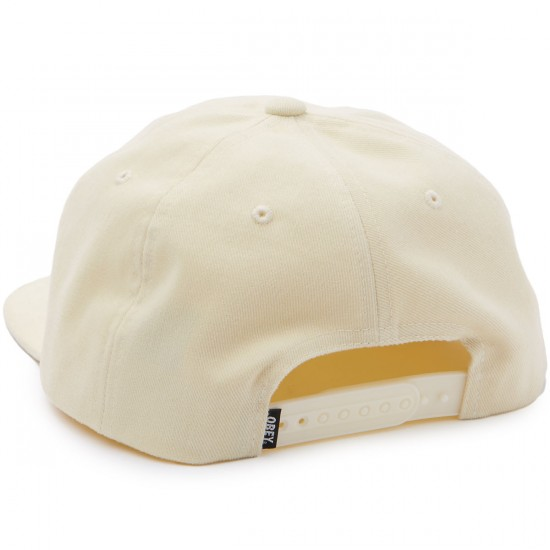 Obey New Deal 6 Panel Hat - Cream