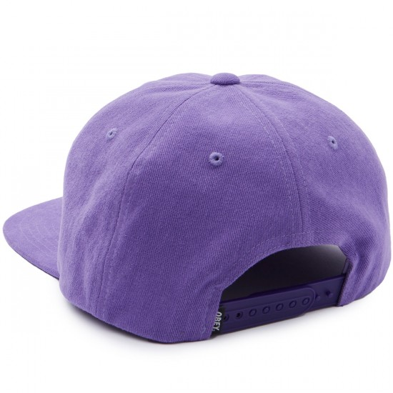 Obey New Deal 6 Panel Hat - Purple