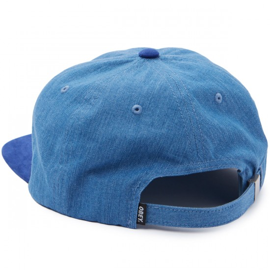 Obey Underground 6 Panel Hat - Blue