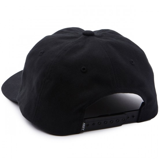 Obey Fubar 6 Panel Snapback Hat - Black
