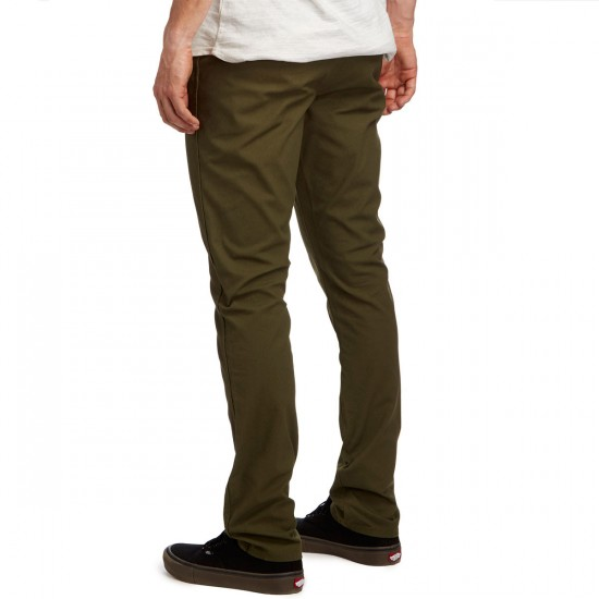 Volcom Gritter Modern Tapered Chino Pants - Military - 30 - 32
