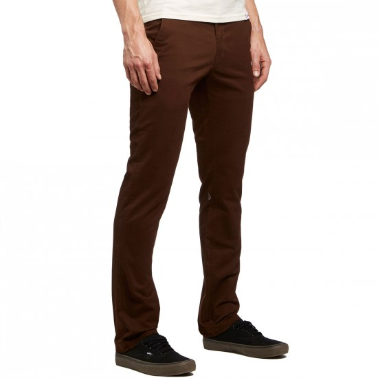 Volcom Frickin Slim Chino Pants - Dark Chocolate - 30 - 32