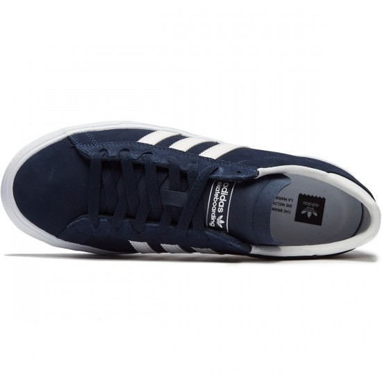 Adidas Campus Vulc II Shoes - Navy/White/White - 8.0