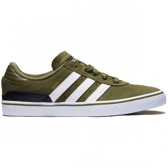 Adidas Busenitz Vulc Adv Shoes - Olive/White/Black - 7.0