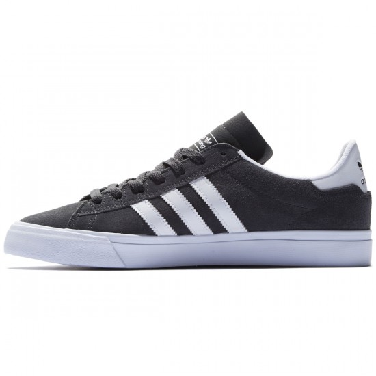 Adidas Campus Vulc II Shoes - Dark Grey/White/White - 8.0