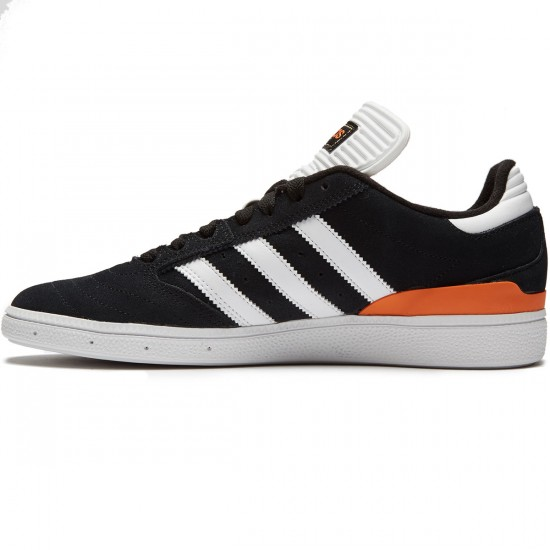 Adidas Busenitz Shoes - Black/White/Orange - 7.0