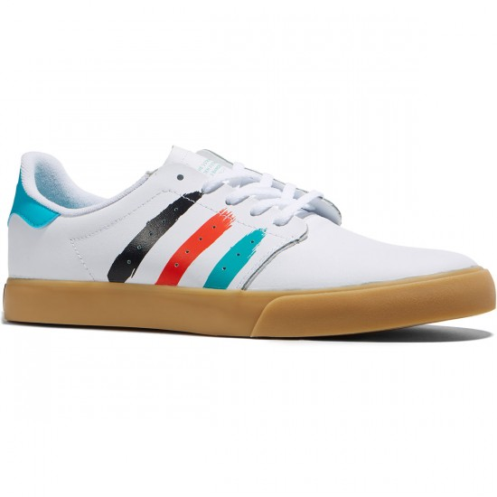 Adidas Seeley Court Shoes - White/Energy Blue - 8.0