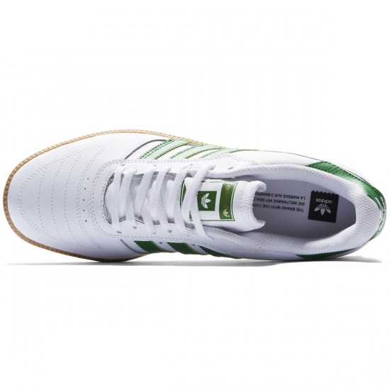 Adidas Copa Skate Shoes - White/Green/Gum - 8.0