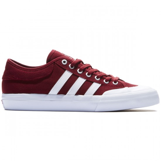 Adidas Matchcourt Shoes - Burgundy/White/Gum - 8.0