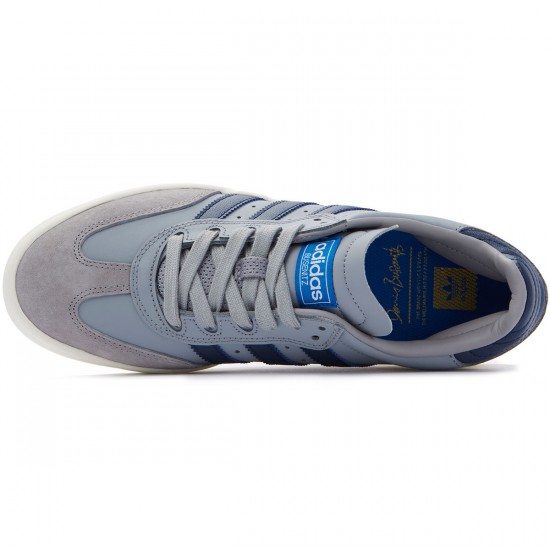 Adidas Busenitz Vulc Samba Edition Shoes - Light Onix/Navy/Bluebird - 7.0