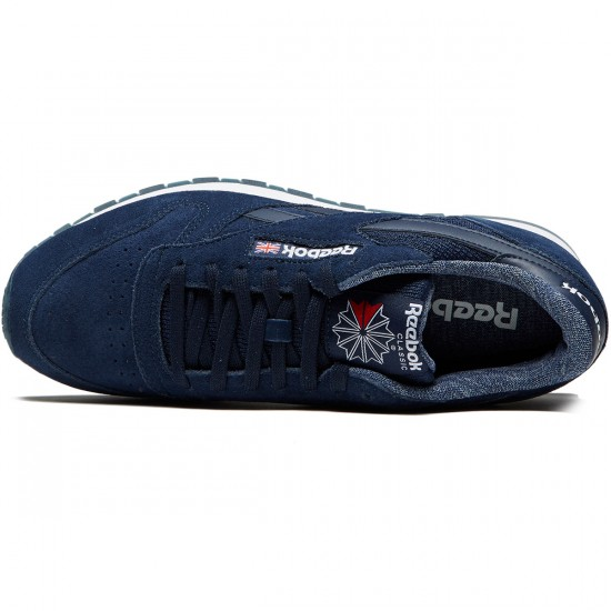 Reebok Classic Leather NM Shoes - Collegiate Navy/White