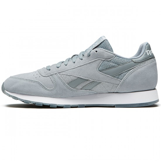Reebok Classic Leather NM Shoes - Flint Grey/White - 10.0