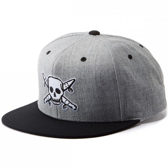 Fourstar Street Pirate Snapback Hat - Grey Heather