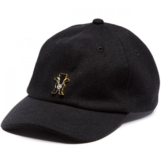 LRG X Grizzly Boss Bear Strapback Hat - Black