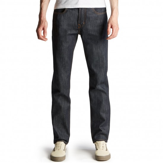 LRG RC Slim Straight Jeans - Raw Indigo - 30 - 32