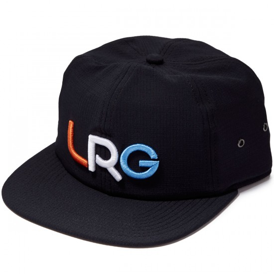 LRG Branded Strapback Hat - Black