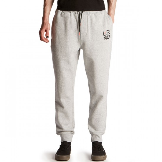 LRG Two Knit Jogger Sweatpants - Ash Heather - SM