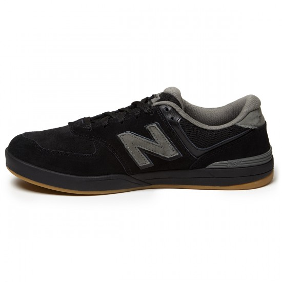 New Balance Logan-S 636 Shoes - Black/Gum - 8.0